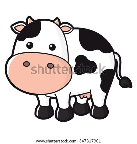 stock-vector-illustration-of-cute-cow
