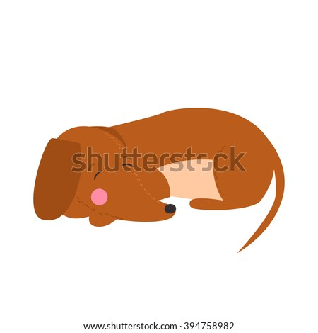 illustration of cute dog