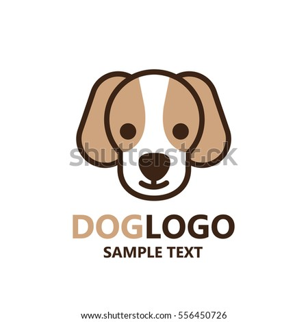Illustration Of Cute Dog Logo On White Background The Vector Of Pug
