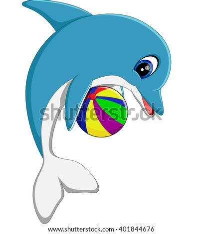 illustration of cute dolphin