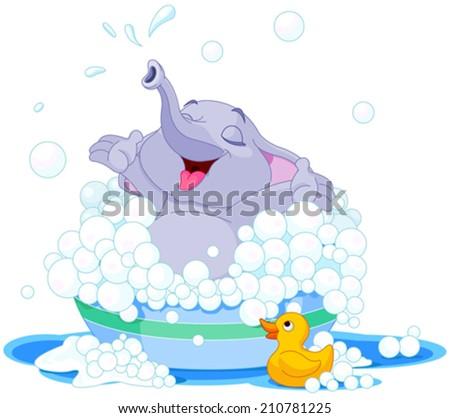 illustration of cute elephant