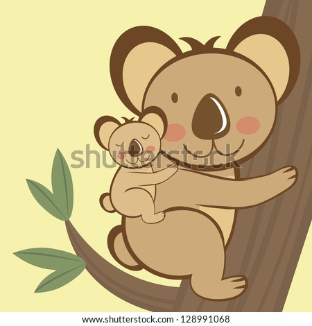 illustration of cute koala