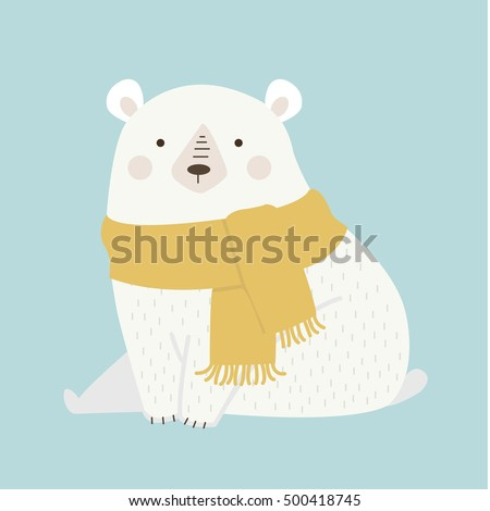 illustration of cute  polar bear
