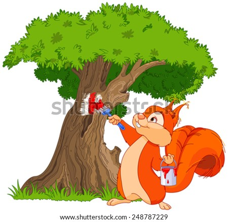 illustration of cute squirrel