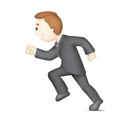 illustration of 3d business man in vector running