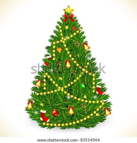 christmas tree with star Christmas Tree Shape With Star