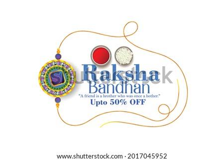 illustration of decorated Rakhi for Indian festival Raksha Bandhan, background