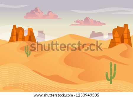 illustration of desert