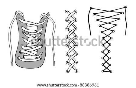 illustration of different laces