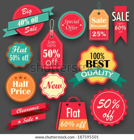 illustration of different sale