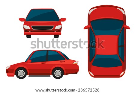 stock-vector-illustration-of-different-view-of-a-red-car
