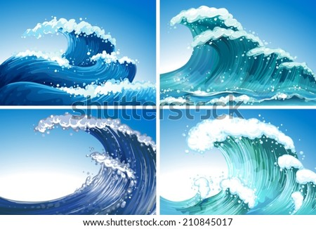 Illustration of different waves