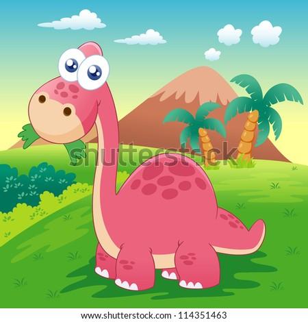 illustration of dinosaur vector