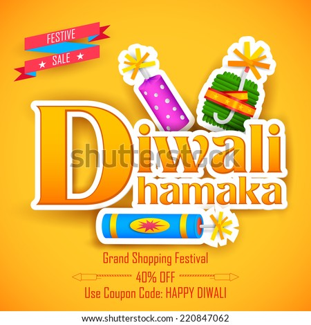 illustration of Diwali Dhamaka Diwali Offer for promotion and advertisment