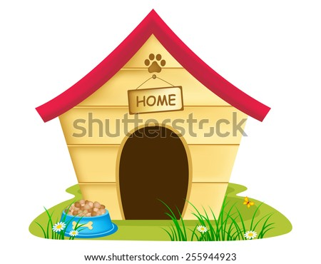illustration of dog kennel
