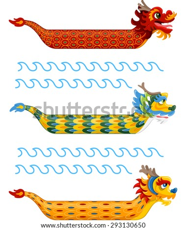 illustration of dragon boats