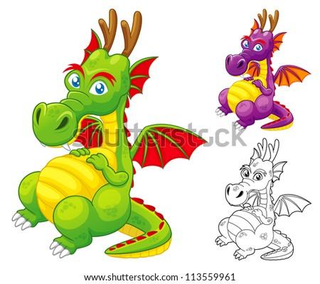 illustration of Dragon vector