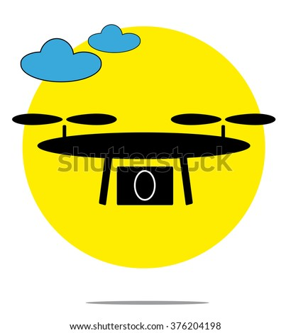 illustration of drone with
