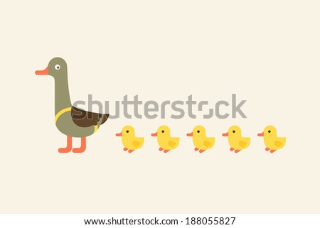 illustration of duck with...