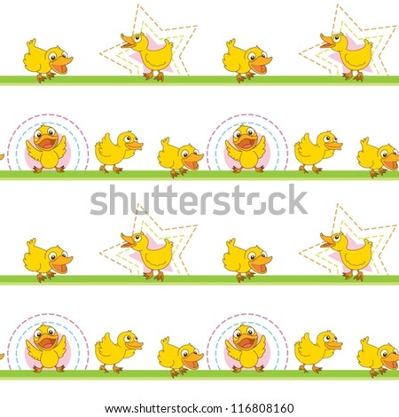 illustration of ducks on a