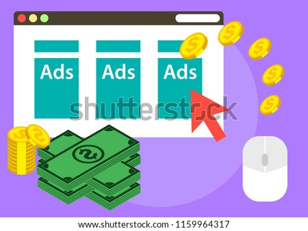 illustration of earning from advertising on website
