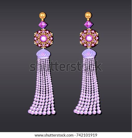 illustration of earrings from
