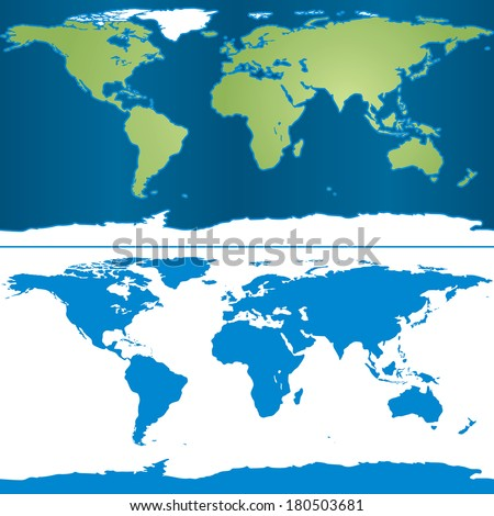 illustration of earth map in