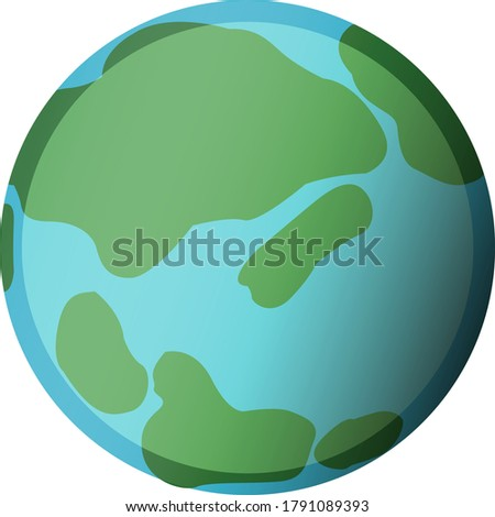 illustration of earth on