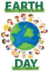 Illustration of earthday poster