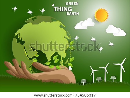 Illustration of eco and world environment  concept