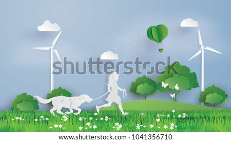 illustration of eco concept and