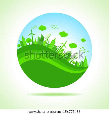 Illustration of ecology concept - save nature