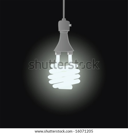Illustration of efficient fluorescent light bulb