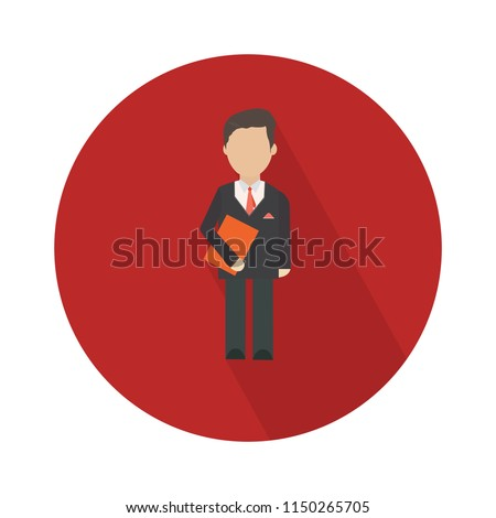 Illustration of employee icon silhouettes vector. Social icon. Flat style design. Community member icon. Business work activity. Staff icon