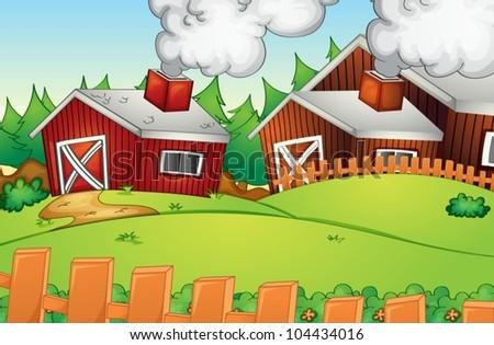 Illustration of empty rural landscape