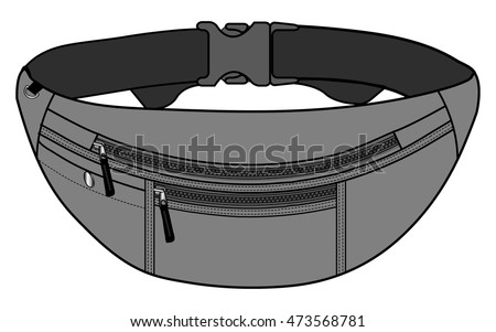 Illustration of fanny pack (waist pouch)
