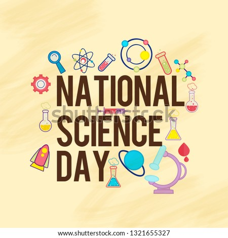 Illustration Of 28 February National Science Day Background.