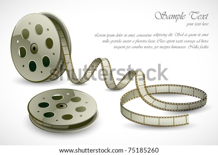 illustration of film reels on abstract background