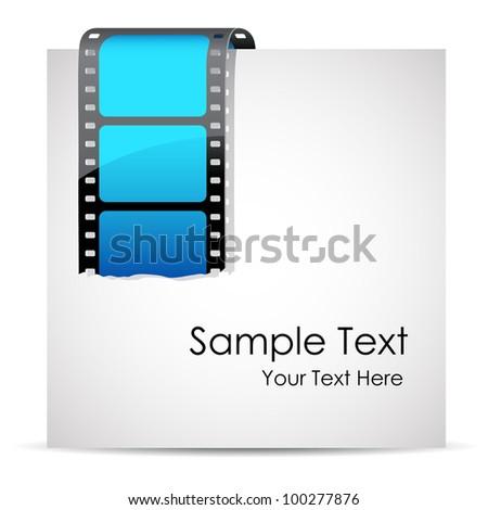 illustration of film stripe on blank paper