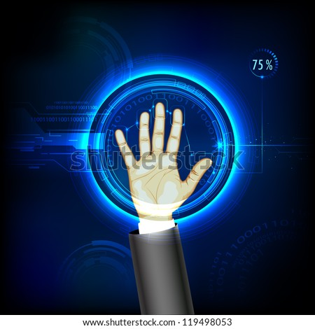 illustration of finger print