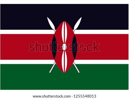 illustration of flag vector,kenya flag