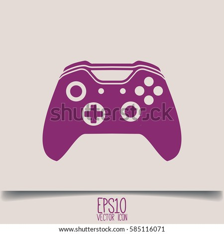 illustration of flat game pad