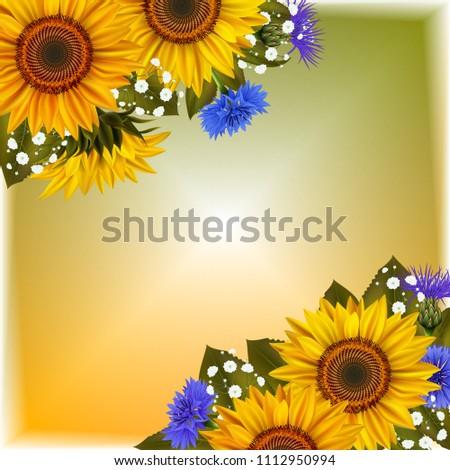 illustration of floral card