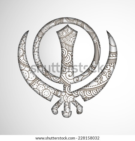 illustration of floral khanda