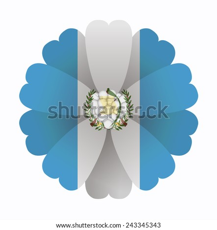 illustration of flower flag