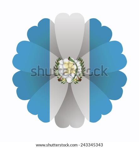 illustration of flower flag