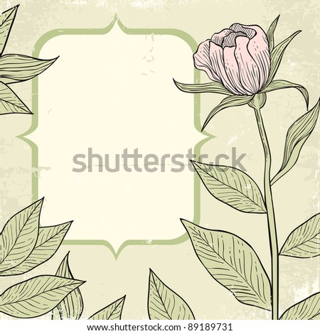 Illustration of flowers in vintage style