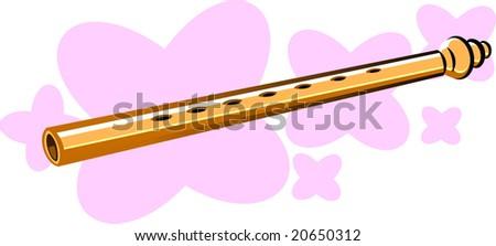 illustration of flutes in pink