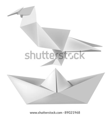 illustration of folded paper