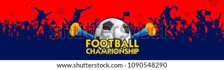illustration of Football Championship soccer sports background